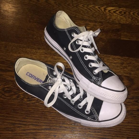d30974a6bba6 Converse Shoes - plain black converse - size 8 womens